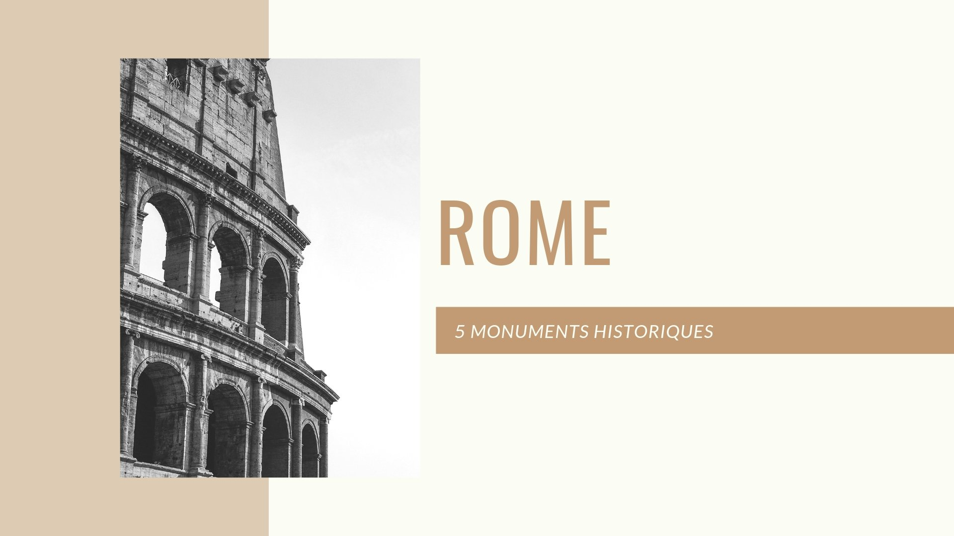 5 monuments marquants